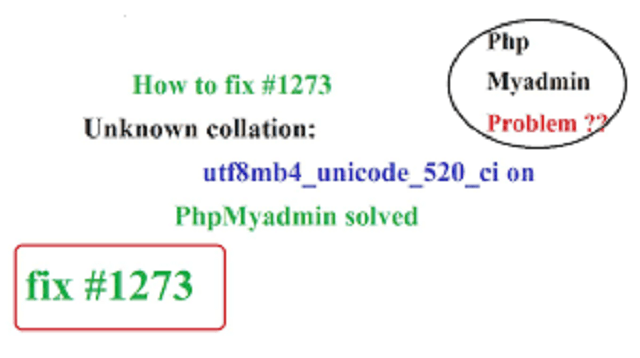 #1273 - unknown collation: 'utf8mb4_unicode_520_ci'